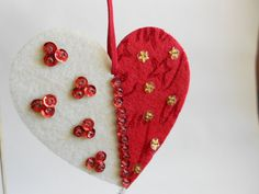 Felt Christmas Ornaments by OneHorseTownCrafts on Etsy