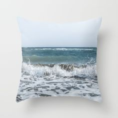 Buy Scream  Throw Pillow by xiari_photo. Worldwide shipping available at Society6.com. Just one of millions of high quality products available.sea, beach, ocean, waves, foam, shore, sea shore, summer, season, hot, storm, scream, loud, nature, natural, nature photography, photo, pic, photography, photograph, art print, wall art, photographer, sky, clear, blue, white, horizon, landscape, digital, nikon, dslr , xiari, pillow, interior design