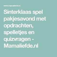 Sinterklaas spel pakjesavond met opdrachten, spelletjes en quizvragen - Mamaliefde.nl