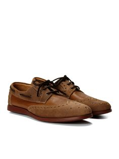 Rowland Wingtip Boat Shoes by Paul Smith at Gilt