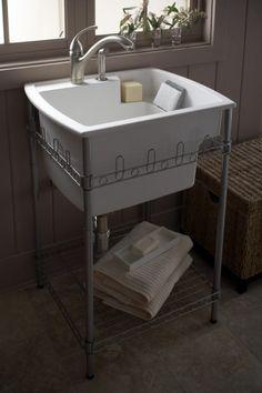 Splash Galleries Sterling 995-U Latitude Laundry Sink and Stand. Raleigh, NC Kitchen & Bath Showroom 919-719-3333.