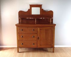 antique early 1900's buffet. turn of the century sideboard. vintage furniture. retro home decor. | ReRunRoom |