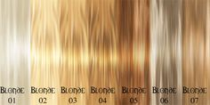 So many to choose from! Blonde Hair Color Chart: How to Choose the Ideal Color?
