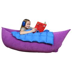 The Cozy Canoe is a perfect place to snuggle up with some calming pressure, or to work on rocking and balance skills
