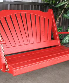 Another great find on #zulily! Tractor Red Fanback Porch Swing by A&L Furniture #zulilyfinds