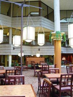 The atrium at Indian Lakes Resort