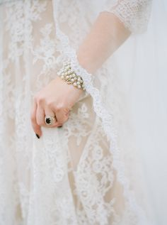vintage inspired wedding jewerly - photo by Erich McVey http://ruffledblog.com/modern-bohemian-wedding-in-big-sur