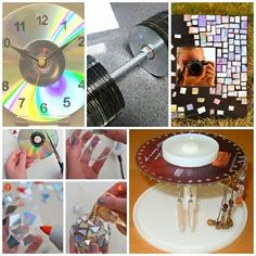 recycle-cd-ideas - There are a few that I really like. Nice look for anything mosiac recycle-cd-ideas - There are a few that I really like. Nice look for anything mosiac recycle-cd-ideas - There are a few that I really like. Cd Crafts, Diy Crafts Videos, Crafts To Make, Recycled Cds, Recycled Crafts, Cd Recycle, Dvd, Craft Sale, Mosaic Glass