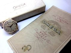 RARITY- 50s rose gold Oversize Omega in FULL SET (with original papers and original box). #Omega #Vintage