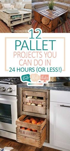 12 Pallet Projects You Can Do In 24 Hours (Or Less!) Pallet Projects, Things to Do With Pallets, Easy Pallet Projects, DIY Home, DIY Home Decor, DIY Home Projects, Simple Projects for the Home, Home Stuff, Fast DIY Projects #palletprojects #diyhome #diyhomedecor #repurposeprojects #diypalletprojects #easyDIYprojects
