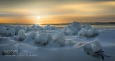 Sunset at Tommy Thompson Park - Pinned by Mak Khalaf The image was taken after a Ice storm in Toronto. It was cold and you can hardly see anyone walking around. The sunset was breathtaking .... Love it!!! Landscapes BeautyCanadaIceLake OntarioNikon d7100SunsetTommy Thompson ParkTorontowinter by yld882008