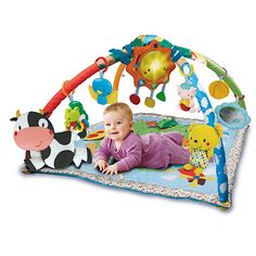 VTECH Baby Little Friendlies 2-in-1 Baby Gym Why we love The 2-in-1 Baby Gym 1. Detachable sun for on-the-go fun 2. 26 melodies and 6 sing-a-long songs 3. 4 colourful animal friends 4. Soft cushion for baby to squeeze 5. Easy to fold up and carr http://www.comparestoreprices.co.uk/educational-toys/vtech-baby-little-friendlies-2-in-1-baby-gym.asp