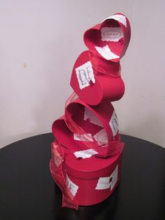 Tower of Hearts Centerpiece