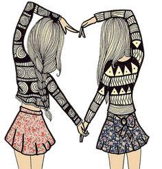 Namorados vem e vão, mas as melhores amigas são para sempre.