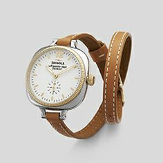 THE GOMELSKY 36mm DOUBLE WRAP LEATHER STRAP WATCH Women's White  Watch