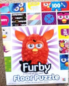 Furby a mind of its own Floor Puzzle by Hasbro. $19.95