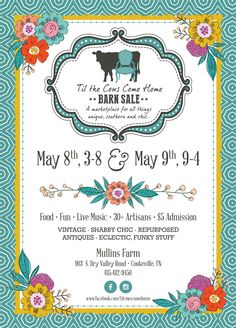 Til the Cows Come Home Spring 2015 Barn Sale Stencil Table Top, Stenciled Table, Fun Live, Antique Market, Jewelry Show, Spring 2015, Print Design, Give It To Me, Artisan