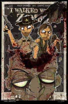 Urbnpop Limited Edition WALKING DEAD Rick Grimes Daryl Dixon 11x17 Print signed and numbered #thewalkingdead