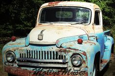 rusty/trucks/cars/country | old truck photo 1951 Ford International Truck Fine Art Photograph 8x12 ...
