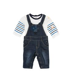 d6d9acf2f649 Catimini Baby T-shirt + Denim Overall