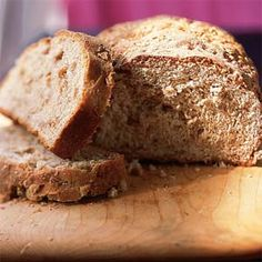 Wheat berry bread is a hearty sandwich bread. Cooked wheat berries add texture, and the wheat bran gives the surface a nice rustic finish. The recipe makes two loaves, so you can freeze one for later.