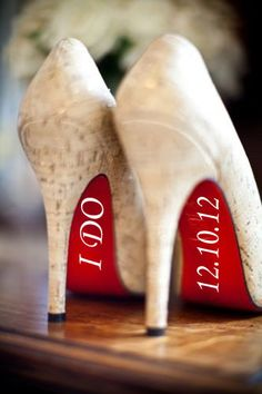 I Do Vinyl Shoe Decals Wedding Date Included  100 by GiomadiInc, $2.25