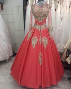Ball Gown Formal Dress 2017 Saudi Arabia style
