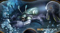 Subnautica Concept Art: Cave Thing - Subnautica - Unknown Worlds . Subnautica Creatures, Weird Creatures, Fantasy Creatures, Subnautica Concept Art, Critical Role Fan Art, Merfolk, Creature Concept, Sea Monsters, Art Background