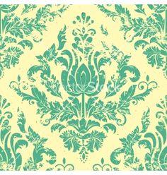 Vintage damask seamless pattern vector - by GarryKillian on VectorStock®