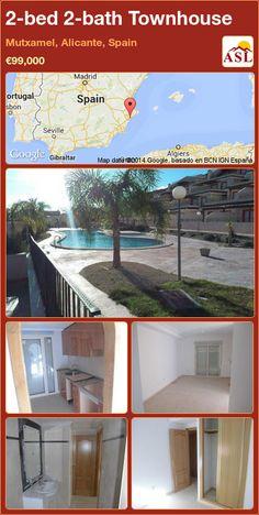 2-bed 2-bath Townhouse in Mutxamel, Alicante, Spain ►€99,000 #PropertyForSaleInSpain