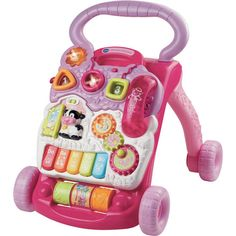 VTech Baby First Steps Walker - Pink