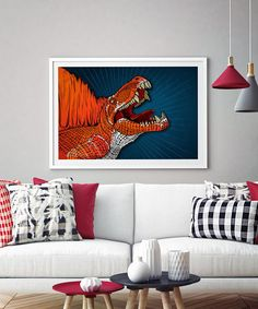 Dinosaur Print Dimetrodon Jurassic Park Jurassic World