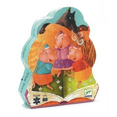 Purchase your Djeco The 3 Little Pig Jigsaw Puzzle today. Djeco's 3 little Pig's silhouette puzzle cleverly immerses kids in the thrill of this classic fairy tale. Three Little Pigs, Little Ones, Toy Shelves, Button Tree, Classic Fairy Tales, Shape Puzzles, Puzzle Box, Puzzle Pieces, Cute Illustration