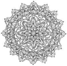 Mandala 705, Creative Haven Kaleidoscope Designs Coloring Book, Dover Publications