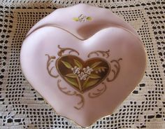 Vintage Pink Heart Dish by lookonmytreasures on Etsy, $16.00