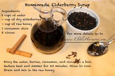 Homemade Elderberry Syrup -- great for cold / flu