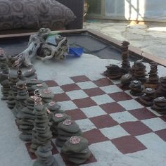Just Made This Patio Chess Set