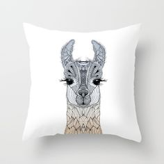 BABY LAMA (CRIA) Throw Pillow
