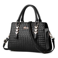 Women Elegant Sytlish PU Leather Handbag Tote Shoulder Bags Crossbody... ($30) ❤ liked on Polyvore featuring bags, handbags, shoulder bags, zip tote, crossbody tote, crossbody shoulder bags, zipper tote and tote handbags