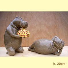 hand modelled ceramic hippos made by Jennifer Robinson. Animals And Pets, Funny Animals, Cute Animals, Rhino Art, Hippopotamus For Christmas, Cute Hippo, King Louie, Majestic Animals, Ceramic Animals