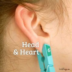 While this method should never take the place of medical advice, I will definitely be giving this ear reflexology method a try — whether with a clothespin or just my fingertips. Infection Des Sinus, Ear Reflexology, Head And Heart, Clothes Pegs, Central Nervous System, Body Organs, Pressure Points, Medical Advice, Massage Therapy
