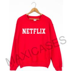 Netflix logo Sweatshirt Sweater Unisex Adults size S to 2XL