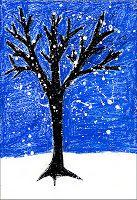 Winter Tree-Art Projects for Kids: 2nd grade