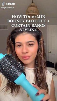 Hair Tips Video, Hair Videos, Hair Inspo, Hair Inspiration, Medium Hair Styles, Short Hair Styles, Hair Upstyles, Blowout Hair, Curtain Bangs