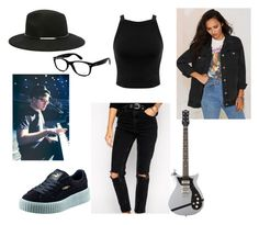 """""""Patricia Stump"""" by chaimae-megherbi on Polyvore featuring mode, Miss Selfridge, ASOS, Honey Punch, Forever 21, Ray-Ban et Puma"""
