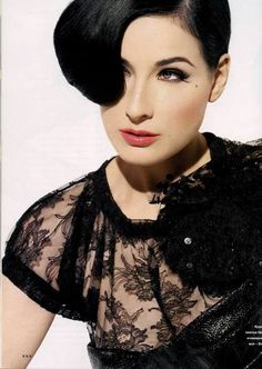 Dita Von Teese in Dolce and Gabbana from In Style Magazine October 2007