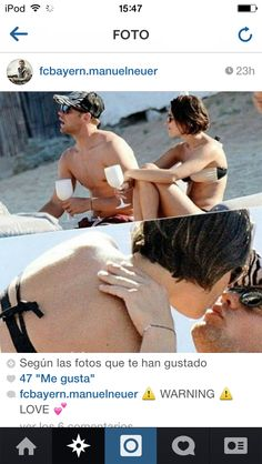 Manuel Neuer And Kathrin Gilch on a holiday!