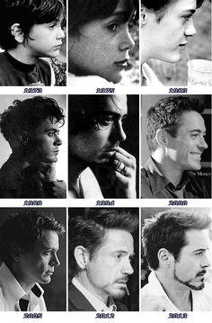 The evolution of Robert Downey Jr. Hero Marvel, Beau Gif, Tony Stank, Robert Downey Jr., I Robert, Iron Man Tony Stark, Downey Junior, Marvel Actors, Hollywood Actor