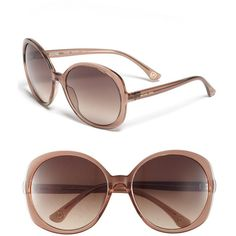 MICHAEL Michael Kors Oversized Sunglasses Taupe/ Brown Gradient One... ($99) ❤ liked on Polyvore