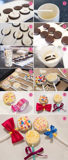 cake pops con galletitas oreo